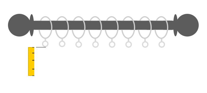 misure altezza bastone con gli anelli