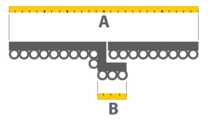 come misurare larghezza di riloga per tende con sormonto