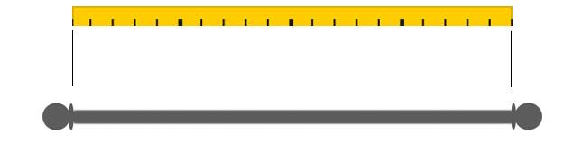 calcolare larghezza tenda a pannello per bacchetta