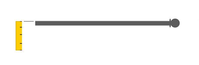 Calcolare altezza di tenda a pannello su bacchetta